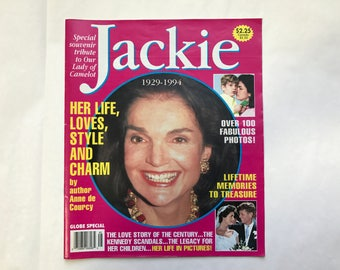 Globe Special Souvenir Tribute To Our Lady of Camelot Jackie 1929-1994