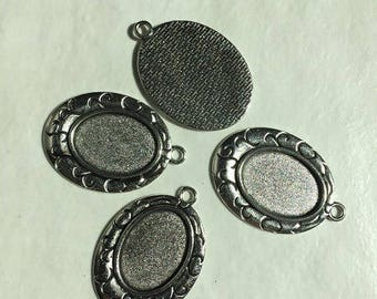 supports 22 oval 18 * 25 mm Silver Pendant