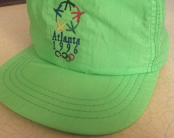 Vintage Olympics 1996 Atlanta Hat Vintage 1996 Olympics Hat Retro Hats Neon Hats Snapback Hats Atlanta Olympics Vintage Hats Snapback Cap 96