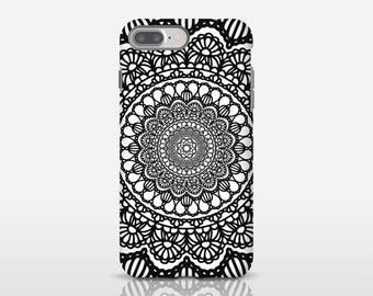 Mandala Phone Art, Mandala Phone Cover, Geometric Art, Black Phone Case, Cell Phone Protection, Mobile Phone Covers, Smartphone Case