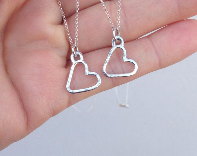 "Heart Pendant with 16"" silver chain"
