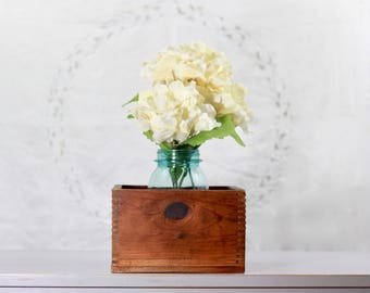 Vintage Wooden Box ~ Rustic Wooden Box ~ Wooden Storage Box ~ Industrial Storage Box ~ Unique Storage ~ Wedding Display Box ~ Floral Display