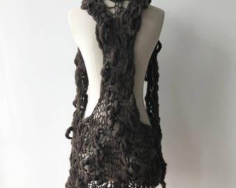 handmade knit vest