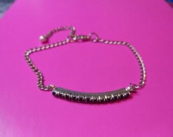 Black rhinestone bracelet