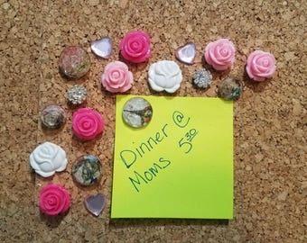 Decorative Thumbtacks, Decorative Push Pins, 18 pcs Pushpins, Bulletin Board Tacks, Wedding Decor, Dorm, Office, Gifts, Housewarming Gift