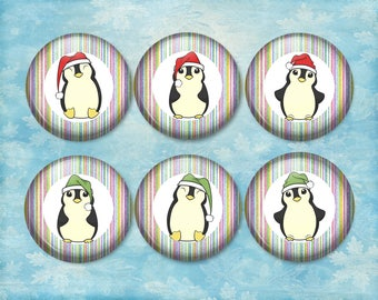 Christmas Penguins, Magnets, Fridge, Calendar Magnets, Penguins (0073)