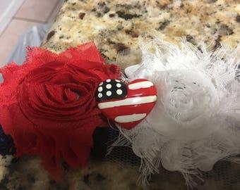 Patriotic 4th of July headband