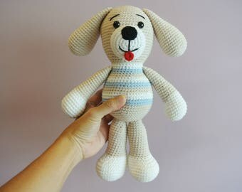 Ben Doggie Crochet Dog Amigurumi - Handmade Crochet Amigurumi Toy Doll - Dog Crochet - Amigurumi Dog