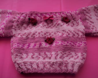 Baby Jumper 0-3 months - Hand knitted