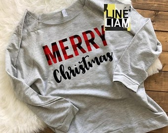 ENDS AT 12AM merry and bright, womens christmas shirt, christmas shirt, santa shirt, christmas raglan, womens tshirt, christmas tshirt, wome