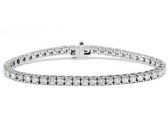 6.00 tcw Diamond Tennis Bracelet G/H SI in 14k White Gold
