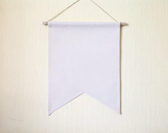 SALE Pin Badge Display Pennant Flag Plain Blank Canvas Banner Lapel Enamel Pin board storage Holder - Make your own banner - Natural color