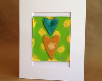 Collage Painting - Rumpled Heart #53