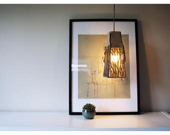 Tilt - Wooden pendant light shade