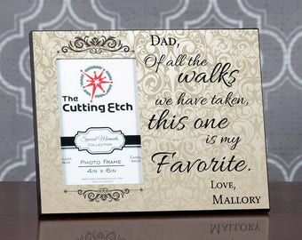 Father Of The Bride Gift, Dad Of All The Walks We Have Taken, Personalized Picture Frame Dad Wedding Gift From Bride, Parents Wedding Gift