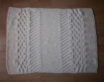 100% acrylic, soft and warm baby blanket