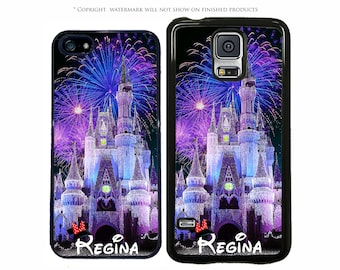 Disney Castle Night Personalized Phone Case For Apple iPhone 7, 7 Plus, iPhone 8, Galaxy S8, S8 Plus S7 S7 Edge, LG G6, Pixel XL, Note 8