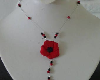 poppy black and Red wire hypoallergenic available on wedding