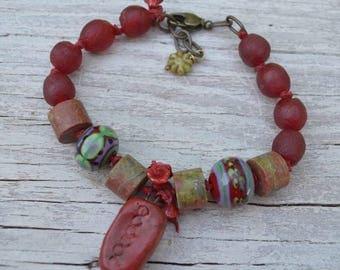 Boho Unakite bracelet - JosephineBeads - DayLilyStudio