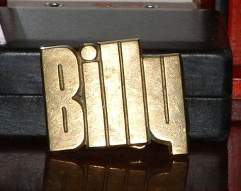 """Pre-Owned Baron Buckle """"Billy"""" Solid Brass Belt Buckle"""