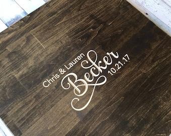 Guest Book Alternative, Unique Wedding Guestbooks, Wedding Guestbook, Wood Guestbook Sign, Beautifully Engraved Wedding Guestbook