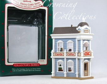 1988 Hallmark Hall Bro's Card Shop Keepsake Ornament 5th in Nostalgic Houses and Shops Series #5 in box Brothers