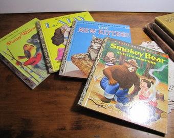 Set of Four (4) Vintage Little Golden Books - Children's Books