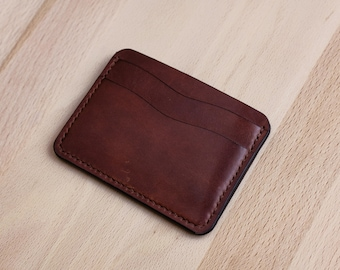 Leather Wallet // Dark Brown // Five Slots // Full Grain Leather // Handmade In USA