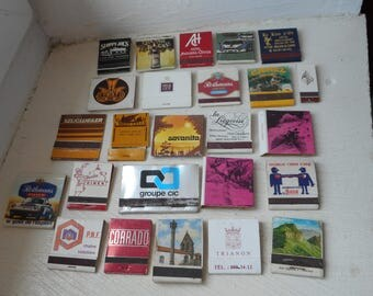 job lot of 25 vintage collectable matchbooks