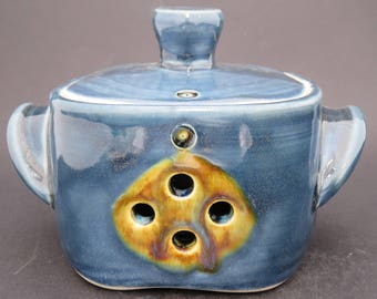Square Garlic Jar
