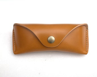 English Bridle leather Glasses case handmade
