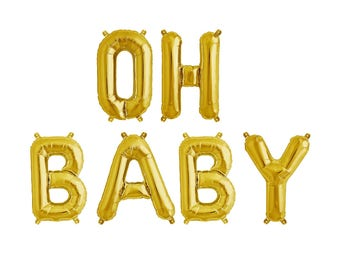 Oh Baby Balloon Banner - Baby Shower Balloons - Baby Shower Decor - Gender Reveal Party Decor - Gender Reveal Balloons - Baby Announcement