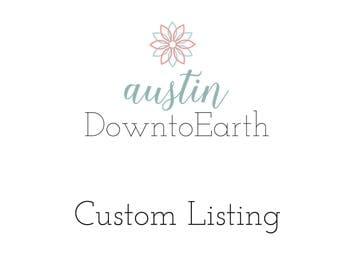 Custom Listing for TammySue