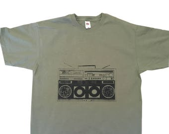 Boombox T Shirt screen printed original design