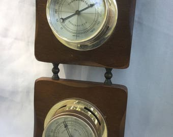 Vintage Weather Station thermometer Springfield Humidity Meter