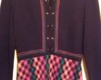 Multi Colored Wool Dress