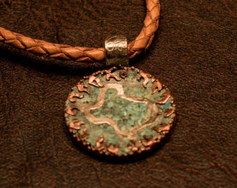 Texas Pendant, turquoise Inlay