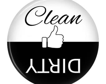 Clean Dirty Dishwasher Magnet Sign Indicator Thumbs Up