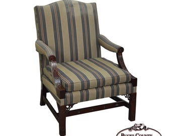 Kindel Mahogany Chippendale Style Arm Chair