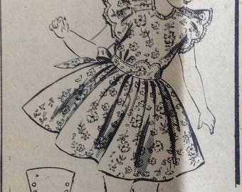 Mail order 2283 girls dress size 4 vintage 1940's sewing pattern