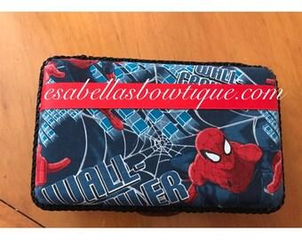 Spiderman custom pencil box;;custom pencil box;pencil boxes;personalized pencil boxes