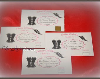 set of 100 raffle tickets with Rhinestones for the bride and groom game garter