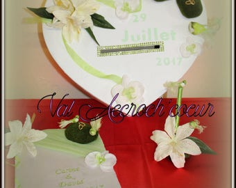 Complete set for wedding urn xxl, guestbook and pen