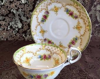 Royal Standard Antoinnette Bone China Tea Cup and Saucer England