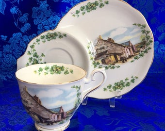 Royal Albert Londonderry Air Traditional British Songs Snack Plate and Teacup China
