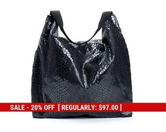 vegan hobo bag purse - black shoulder bag - evening purse - small hobo bag - vegan bag - party bags for women - vegan hobo bag - PETELS