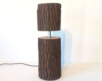 rustic light, rustic lamp, office lamp, table lamp, desk lamp, bedside light, bedside lamp, modern lamp, housewarming gift, gift for dad,