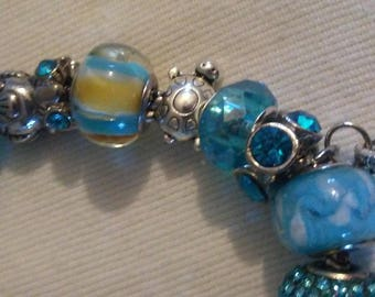 Turquoise Bracelets on Sterling Silver Chain