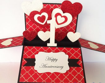 First Anniversary Card, 1st Anniversary Card, 1 Year Anniversary gift, First Anniversary For Her, paper Anniversary card, Year Personalise