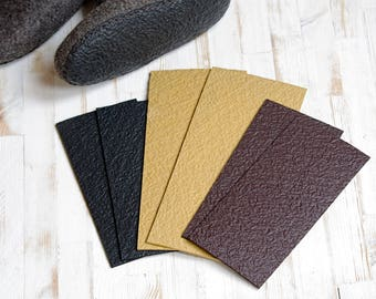 Light weight rubber soles-  micro-porous rubber sole for felted slippers- flexible rubber sole-black rubber sole-brown rubber sheet
